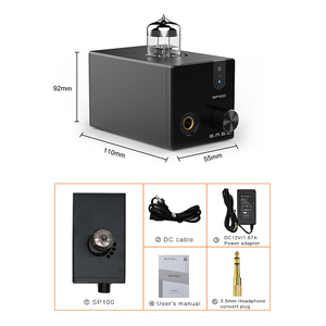 Image 5 - SMSL SP100 Tube Headphone Amplifier 6N3 Tube Powerful Hi End Stereo Amp Audio HiFi Output volume control