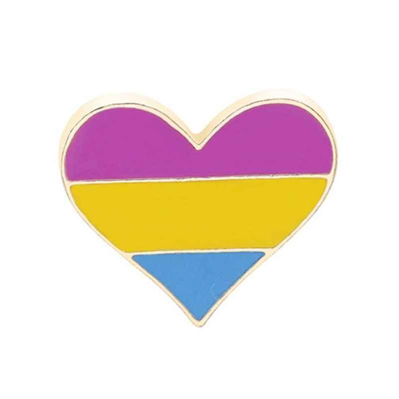 Gay & Lesbian Pride Regenboog Email Revers Pin Broche Badge Unisex Mode-sieraden