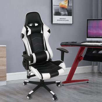 Spot Ergonomic Computer Gaming Chair Racing High Back PU Leather Adjustable Angle 360 Degree Swivel New