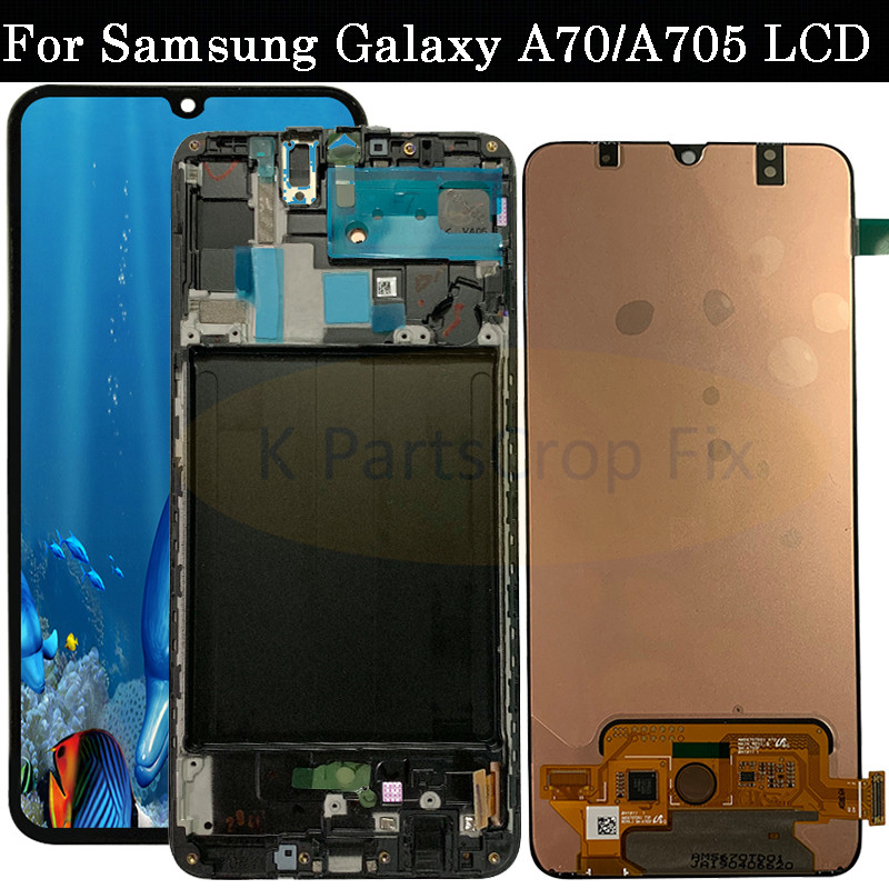 6.7 'SUPER AMOLED LCD voor SAMSUNG Galaxy A70 A705 lcd Touch Screen Digitizer Vergadering A70 2019 A705F LCD voor SAMSUNG A70-in LCD's voor mobiele telefoons van Mobiele telefoons & telecommunicatie op AliExpress - 11.11_Dubbel 11Vrijgezellendag 1