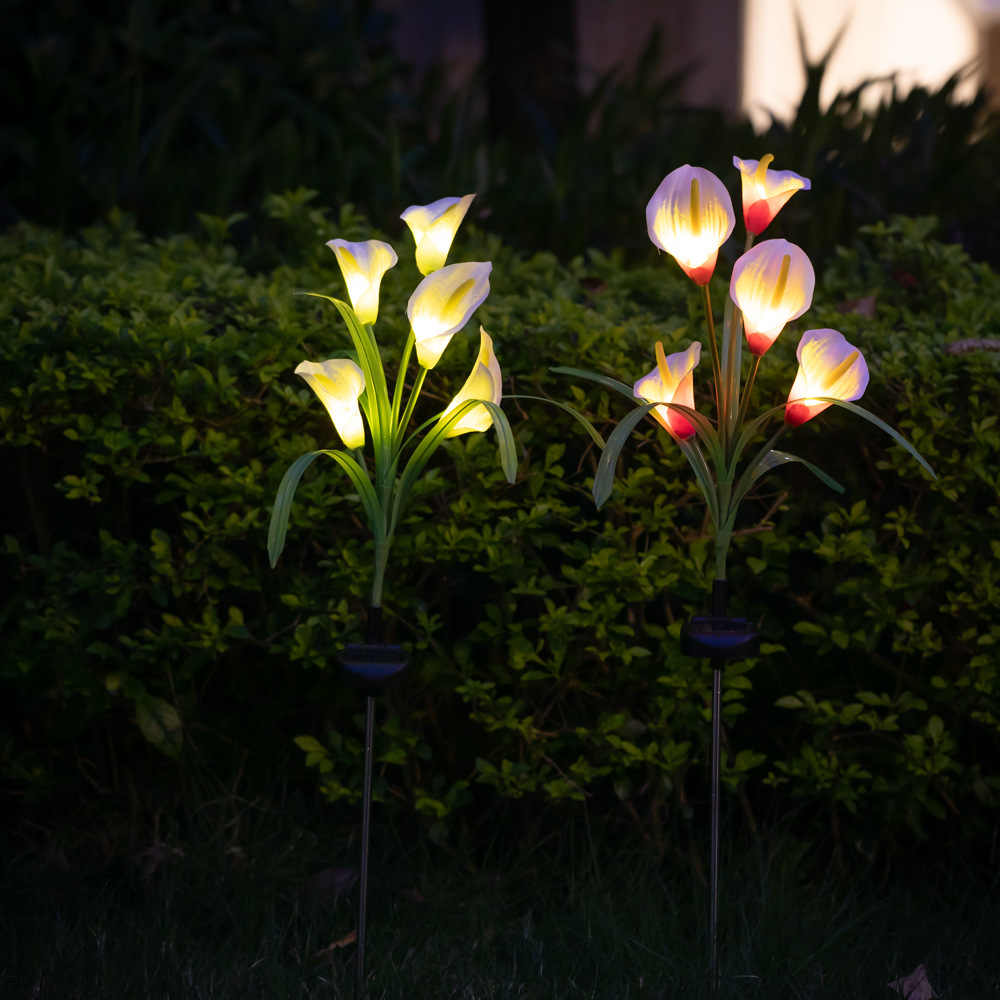 5 Led Solar Light Outdoor Waterdichte Zonne-energie Gazon Lamp Voor Yard Path Way Landschap Decoratieve Tuin Bloem Lamp
