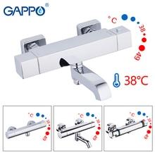 GAPPO baterie prysznicowe bateria wannowa z termostatem ścienny prysznic do montażu kran wannowy termostatyczny mieszacz wody kąpiel griferia