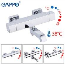 GAPPO duş musluk banyo bataryası termostat duvara monte duş küvet musluk termostatik su mikser banyo griferia