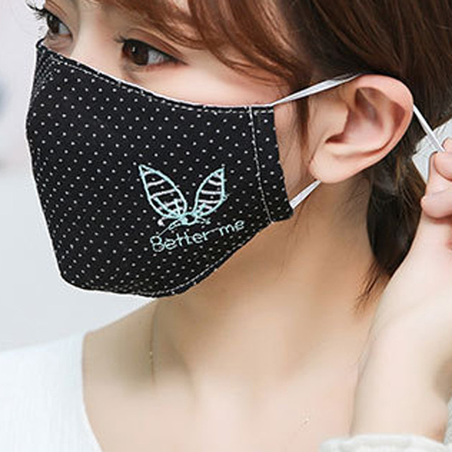 Cotton Dust Mask Fashion Couple Seamless Outdoor Riding Quick-drying Dustproof Keep Warm Mask Face Respirator Anti Kpop Bear 3