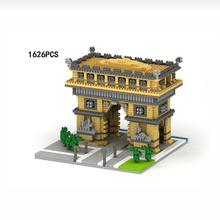 LegoINGlys creators city Street view famous Paris Triumph France nano micro diamond building blocks model bricks toys for gifts
