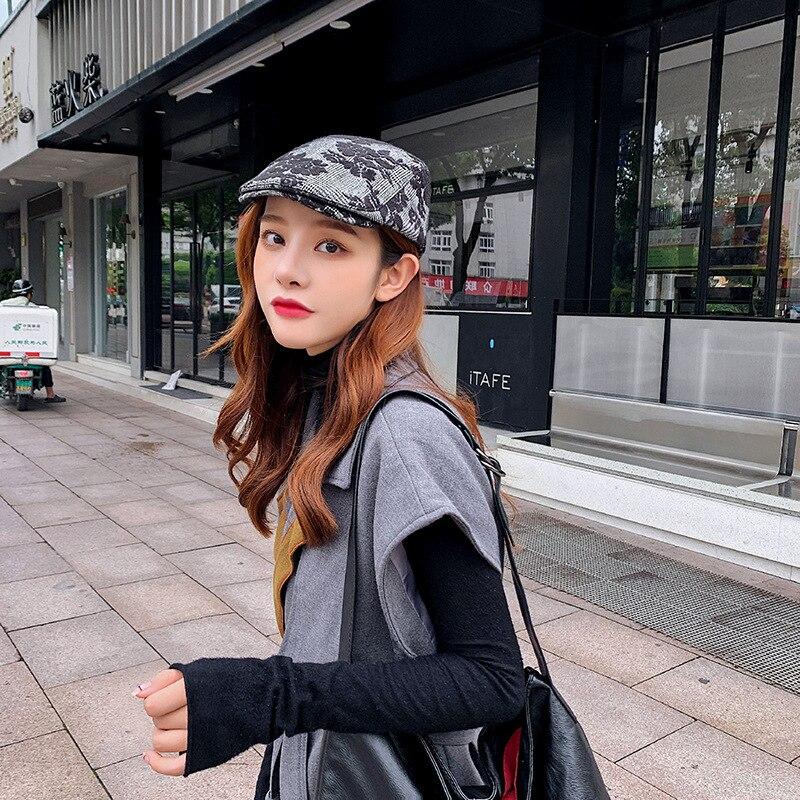 Men Women Caps Beret Girl Beret French Artist Hand Knitted Imitation Beanie Hat Cap Vintage Plain Elegant Women Navy Caps