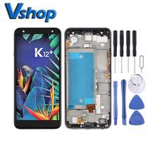 Replace Parts For LG K40 LMX420 LCD Display Touch Screen Digitizer Full Assembly with Frame For LG K12 Plus  X4 2019,Double SIM