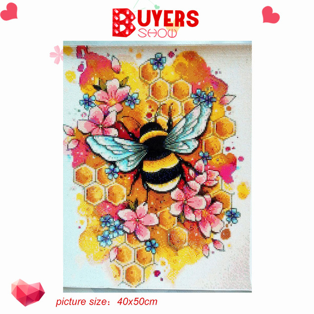 HUACAN Diamond Painting New Square Round Animals Hobby And Handicraft Rhinestones Diamond Embroidery Bee 5d Diamond