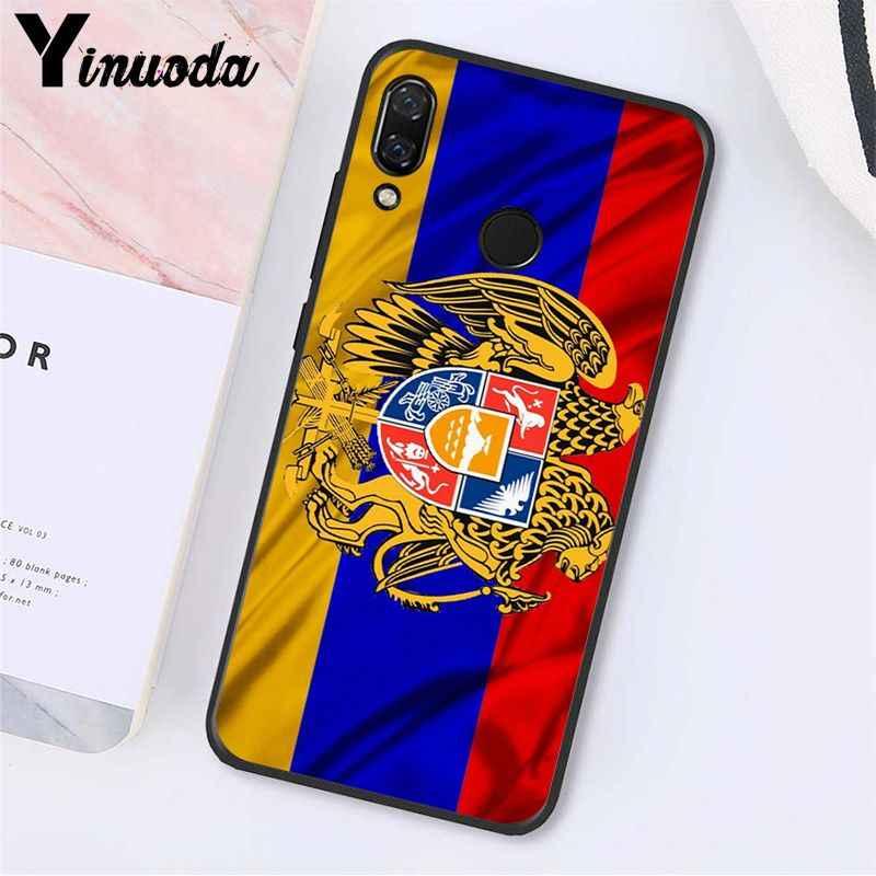 Yinuoda Armenia Albania Russia bandiera Emblema Cassa Del Telefono per Xiaomi Redmi8 4X 6A S2 Andare Redmi 5 5 Più Note8 note5 7 Note8Pro