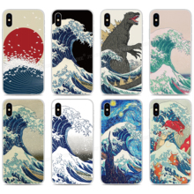 Wave off Kanagawa Bumper Phone Case For BlackBerry-Priv KEYone KEY 2 Motion Passport Q30 Z10 Z30 Q10 DTEK50 DTEK60 DTEK70 Cover cheap JURENHE Floral Matte Plain Quotes Messages Animal Transparent Geometric Fitted Case Mobile Phone Bags Cases Anti-knock