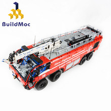 BulidMOC Fire Fighting MOC-4446 Airport Crash Tender Boat Building Blocks Crane City Firefighter Bricks Children Toys(China)