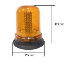 80 LED 40W rotating strobe light ceiling lamp roof lamp engineering vehicle school bus strobe light warning light 9-30V