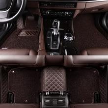 цена на HLFNTF Double Custom car floor mats For nissan all model qashqai juke qashqai almera Patrol GT-R X-Trail Cefiro fuga QUEST