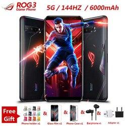 Nouveau téléphone de jeu Asus ROG 3 5G 6.59 12/16GB RAM 128/256G/512GB ROM Snapdragon 865/865 Plus 6000mAh 144HZ FHD + AMOLED ROG3 téléphone