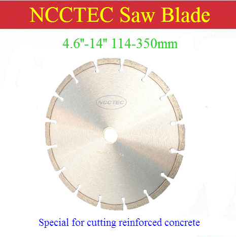 4.6''-14'' Diamond Saw Blade For Cutting High Hardnes Reinforced Concrete Thick Steel Bars | 114-350mm Road Bridge Cutting Disc