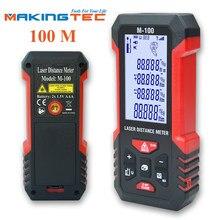 Dispositivo de medição digital da fita da medida da roleta do medidor de distância 40-100m do medidor do laser do rangefinder do laser de makingtec