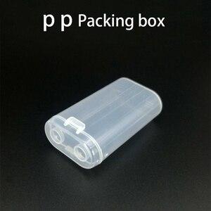Image 3 - 2600mAh Portatile di Trasporto 18650 Contenitore di Batteria di Caso Di Immagazzinaggio Scatola di Acrilico Trasparente di Plastica trasparente di Sicurezza Box per 2pcs 18650 batteria