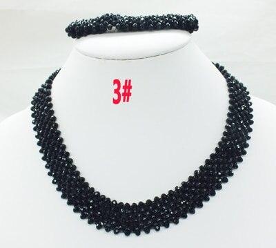 Новая цена-Африка, Нигерия, самый популярный ювелирный набор с кристаллами для невесты - Окраска металла: 3