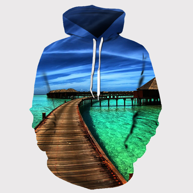 Europe and America Men/Women Hoodies With Hat Hoody Print Color Blocks Autumn Winter 3D Sweatshirts Hooded Hood Tops Wholesale 5