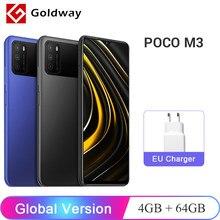 Version mondiale POCO M3 4GB 64GB téléphone portable Snapdragon 662 Octa Core 48MP Triple caméra 6000mAh batterie 6.53