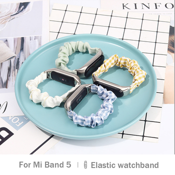 цена на For Xiaomi Mi Band 5 Rubber Bands Elastic Hair Wristband Nfc Replacement Strap Smart Watch Bracelet Wrist Strap for Xiaomi