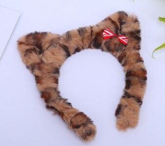 Banda de pelo de leopardo para niños