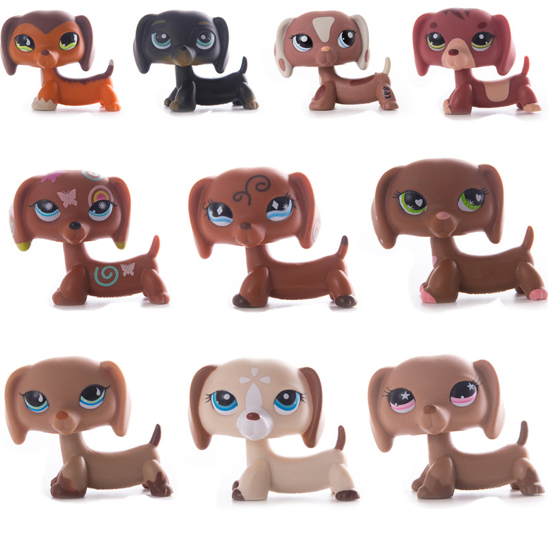 LPS Pet Shop Toy Doll Dachshund Dog Collection Standing Action Character High Quality Small Model Toy Gift Role Playing Toy Girl