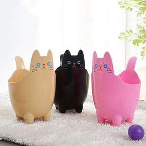 Image 5 - Poubelle créative pour bureau 1 pièce, Mini poubelle pour salon, chambre à coucher, sans couvercle, stockage de chat mignon
