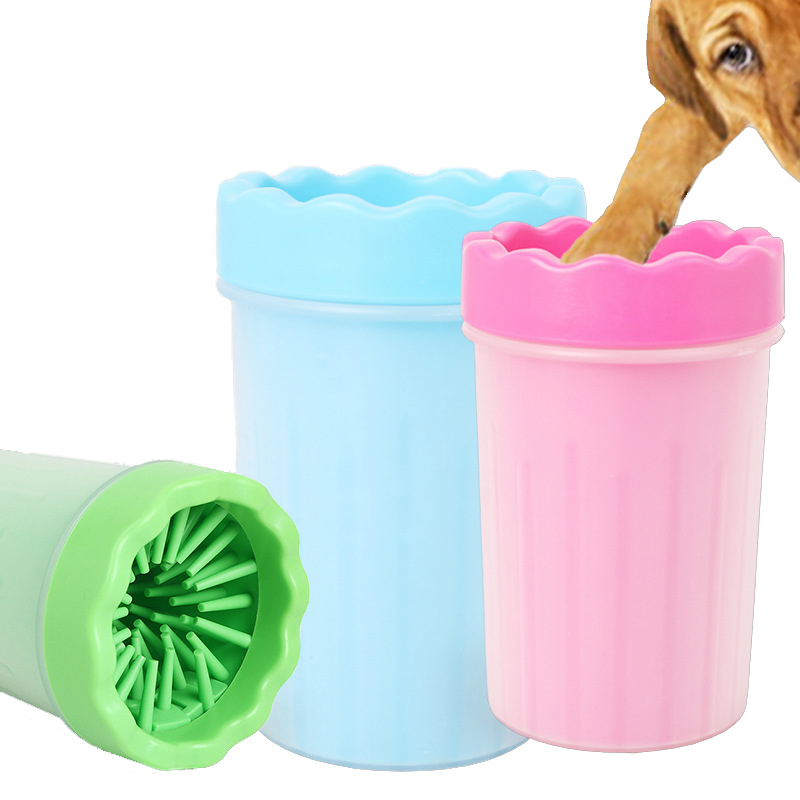 New <font><b>Dog</b></font> <font><b>Paw</b></font> <font><b>Cleaner</b></font> Cup Small Large <font><b>Dogs</b></font> Pet Feet Washer Portable Pet Cat Dirty <font><b>Paw</b></font> Cleaning Cup Soft Silicone Foot Wash Tool image