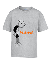 Personalised kids DIARY OF A WIMPY KID book t-shirt top clothing THE LONG HAUL Cartoon t shirt men Unisex New Fashion(China)