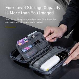 Image 2 - Baseus Shockproof Storage Bag USB 케이블 카드 충전기 휴대 전화 이어폰 가방 PC 방수 주최자 가방 여행 액세서리