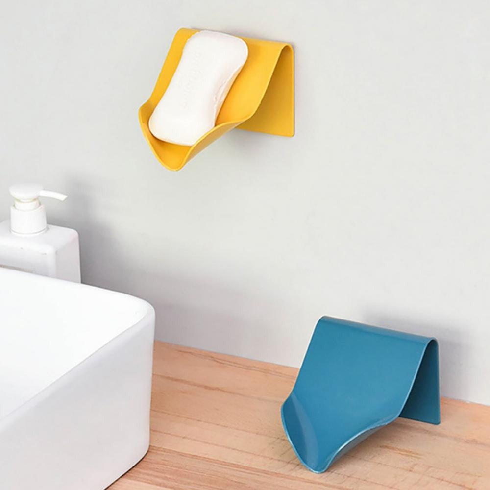 Plastic Soap Holder Bathroom Shower Soap Sponge Dishes Storage Box Plate Tray