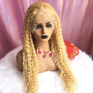 Image 3 - Rosabeauty Deep Wave Transparent 613 Blonde Brazilian 13x4 Lace Front Human Hair Wig PrePlucked Remy Frontal Wigs 150 Density