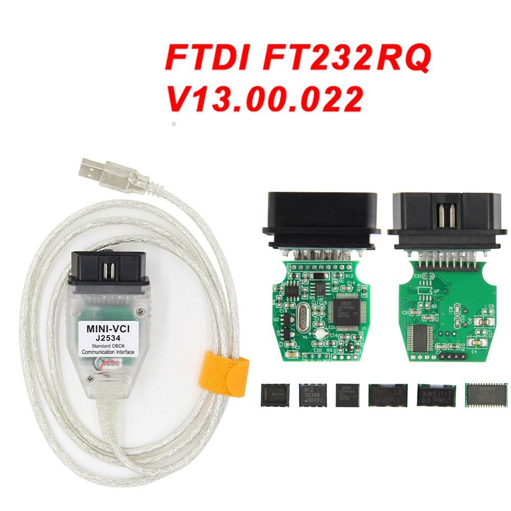 16pin Mini VCI For Toyota Lexus TIS TechStream OBD2 Diagnostic Interface Scanner