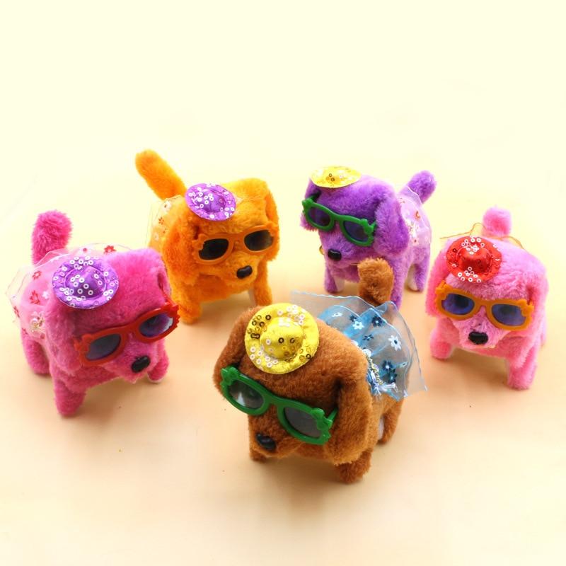 Electric Forward Round Steak Dog Wear Skirt Glasses Hat Dao Tui Gou Plush Toys CHILDREN'S Toy