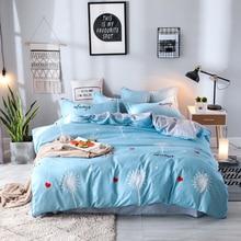 cartoon Dandelion 4pcs Kid Bed Cover Set Cartoon Duvet Adult Child Sheets And Pillowcases Bedding