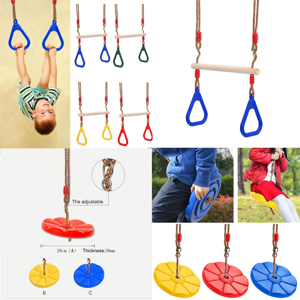 Wooden Hand Rings Swing Toy Outdoor Gift Sports Fitness Children Supplies Kids Outdoor Swing Game Activity Family Activity Game