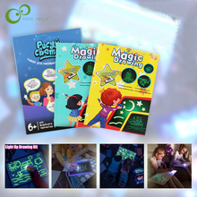 Tablero de dibujo de juguete educativo, tableta de grafiti, Kit de dibujo de luz, 1 Uds., A4, A3, A5, mágico luminoso, con light-fun, YJN