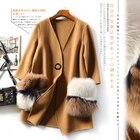 Big Fox Fur Bag Doub...
