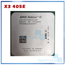 AMD-procesador de CPU Athlon II X3 405e X3-405E, 2,3 GHz, Triple núcleo, AD405EHDK32GM, enchufe AM3