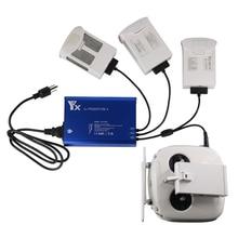4in1 için Phantom 4 serisi için ev şarj cihazı DJI Phantom 4/4 PRO/4 gelişmiş pil kontrolü + 2 USB port hızlı paralel şarj göbeği