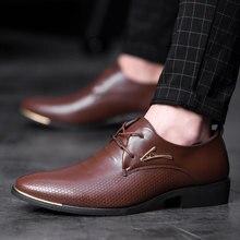 38 48 mens formal shoes comfortable business Stylish Gentlemans formal shoes men #066