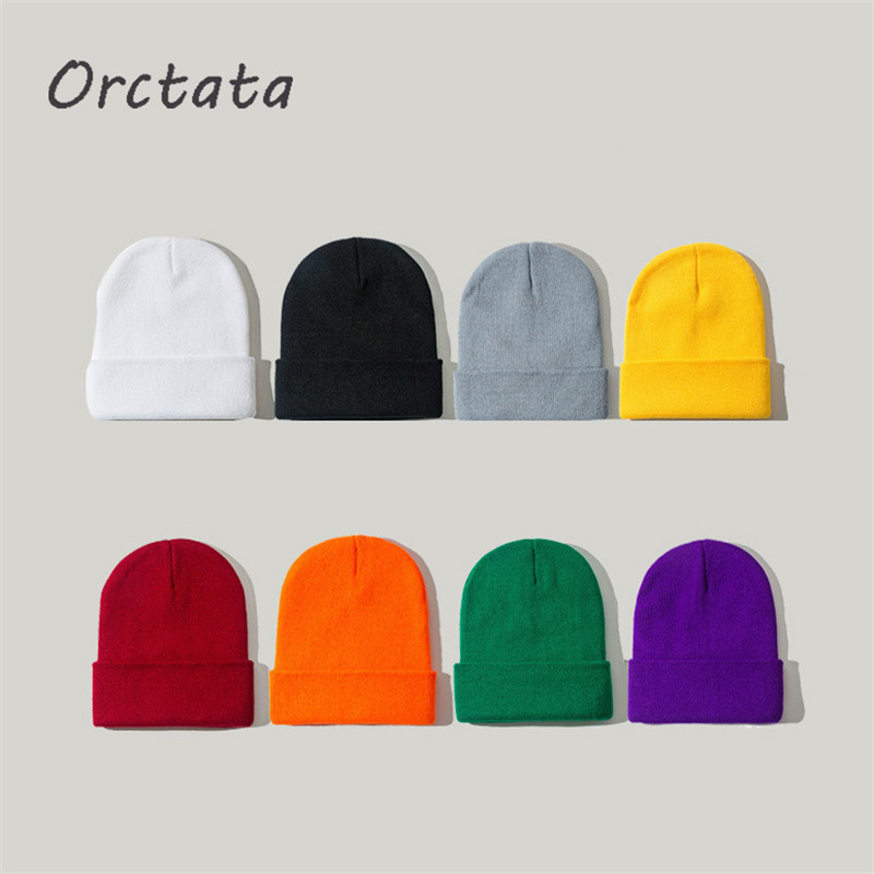 Winter Knitted Beanie Hats for Women Men Fashion Spring Autumn Unisex Hip Hop Solid Color Warm Knit Skullies Cap Hat Female