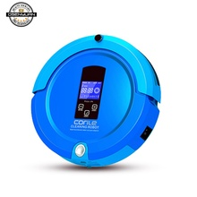 LCD Robot Vacuum Cleaner Sweep&Wet Mop Navigation Planned Cleaning Dustbin Water Tank Adjustable Schedule Household