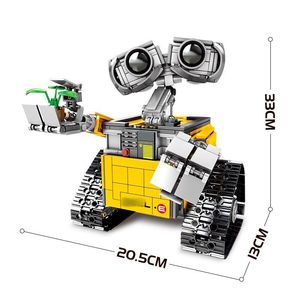 Image 2 - 695PCS Building Blocks Creator Serie Idea Robot Blocks WELL E Action Figures Creators Building Blocks Compatible Technic  Toys