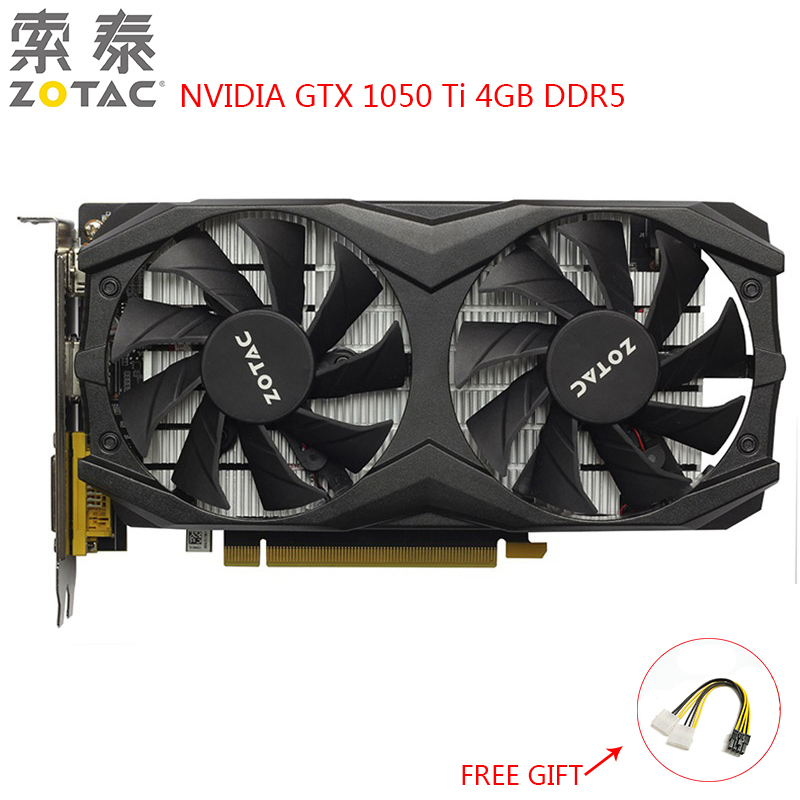 ZOTAC NVIDIA GTX1050 Ti Video Card Gaming PC Graphics Card GeForce GTX 1050 Ti 4GB DDR5 128Bit Used GTX 1050 Ti Graphics Card