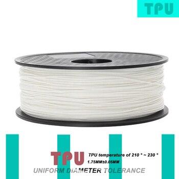 3d printer filament Hot sell TPU filament 1.75mm 500g good quality plastic filament TPU 3d printing filament high strength фото