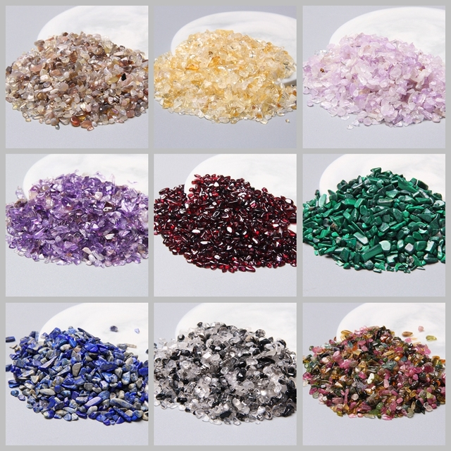 3-5MM Natural crystal quartz stone chips undrilled Mini healing raw minerals chips Labradorite lapis lazuli agates jaspers chip 1