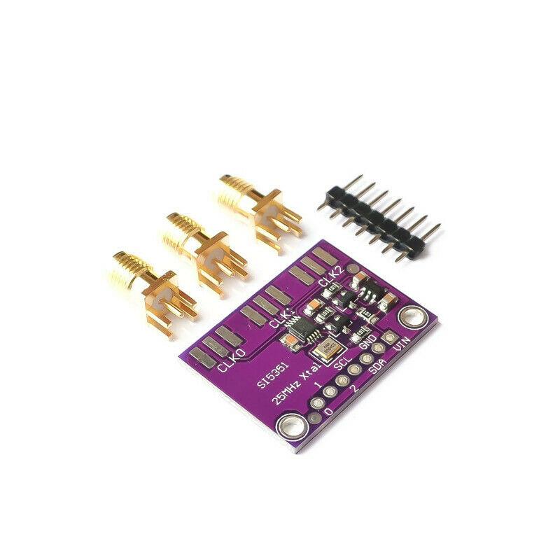 Плата прерывания генератора часов Si5351A I2C 25 МГц, от 8 кГц до 160 МГц, 1 шт.