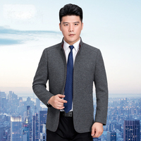 Luxury Cashmere Jacket Men Pea Coat New Stand Collar Wool Coat Mens High Quality Short Slim Manteau Homme 3XL LX789